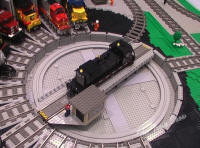 LEGO Train Engines at the Roundhouse